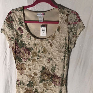 NWT Floral Bodycon Dress Size Large